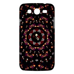 Floral Skulls In The Darkest Environment Samsung Galaxy Mega 5 8 I9152 Hardshell Case