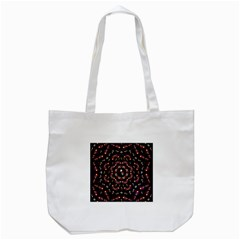 Floral Skulls In The Darkest Environment Tote Bag (white)