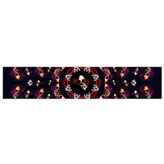 Floral Skulls In The Darkest Environment Small Flano Scarf