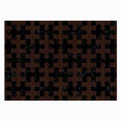 Puzzle1 Black Marble & Dark Brown Wood Large Glasses Cloth