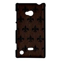 Royal1 Black Marble & Dark Brown Wood (r) Nokia Lumia 720