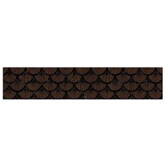 Scales3 Black Marble & Dark Brown Wood Small Flano Scarf