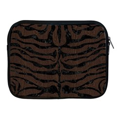 Skin2 Black Marble & Dark Brown Wood Apple Ipad 2/3/4 Zipper Cases