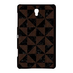 Triangle1 Black Marble & Dark Brown Wood Samsung Galaxy Tab S (8 4 ) Hardshell Case
