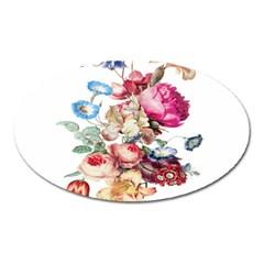 Fleur Vintage Floral Painting Oval Magnet