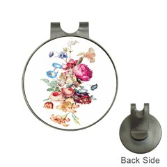 Fleur Vintage Floral Painting Hat Clips With Golf Markers