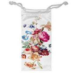 Fleur Vintage Floral Painting Jewelry Bag