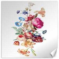 Fleur Vintage Floral Painting Canvas 12  X 12