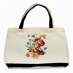 Fleur Vintage Floral Painting Basic Tote Bag (two Sides)