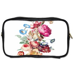 Fleur Vintage Floral Painting Toiletries Bags 2 Side