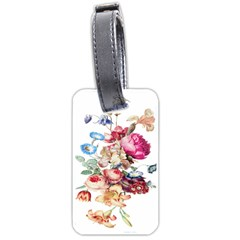 Fleur Vintage Floral Painting Luggage Tags (two Sides)