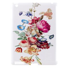Fleur Vintage Floral Painting Apple Ipad 3/4 Hardshell Case (compatible With Smart Cover)