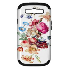 Fleur Vintage Floral Painting Samsung Galaxy S Iii Hardshell Case (pc+silicone)