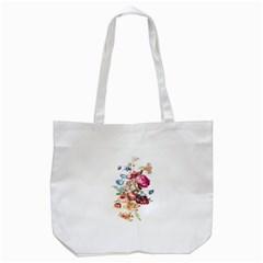 Fleur Vintage Floral Painting Tote Bag (white)
