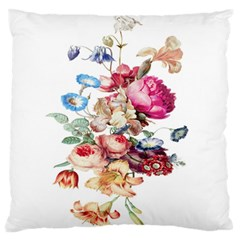 Fleur Vintage Floral Painting Large Flano Cushion Case (two Sides)