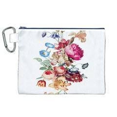 Fleur Vintage Floral Painting Canvas Cosmetic Bag (xl)