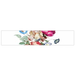 Fleur Vintage Floral Painting Small Flano Scarf