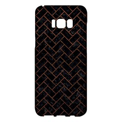 Brick2 Black Marble & Dull Brown Leather (r) Samsung Galaxy S8 Plus Hardshell Case
