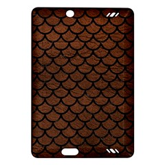 Scales1 Black Marble & Dull Brown Leather Amazon Kindle Fire Hd (2013) Hardshell Case