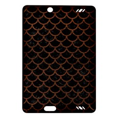 Scales1 Black Marble & Dull Brown Leather (r) Amazon Kindle Fire Hd (2013) Hardshell Case