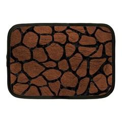 Skin1 Black Marble & Dull Brown Leather (r) Netbook Case (medium)
