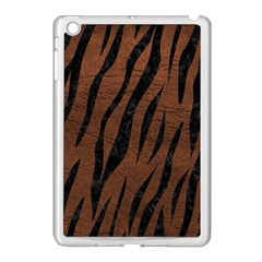 Skin3 Black Marble & Dull Brown Leather Apple Ipad Mini Case (white)