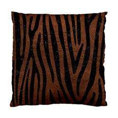 Skin4 Black Marble & Dull Brown Leather (r) Standard Cushion Case (two Sides)