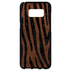 Skin4 Black Marble & Dull Brown Leather (r) Samsung Galaxy S8 Black Seamless Case