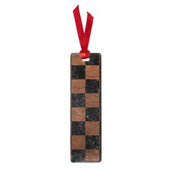 Square1 Black Marble & Dull Brown Leather Small Book Marks