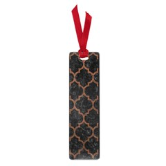 Tile1 Black Marble & Dull Brown Leather (r) Small Book Marks