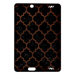 Tile1 Black Marble & Dull Brown Leather (r) Amazon Kindle Fire Hd (2013) Hardshell Case