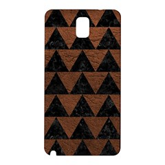 Triangle2 Black Marble & Dull Brown Leather Samsung Galaxy Note 3 N9005 Hardshell Back Case