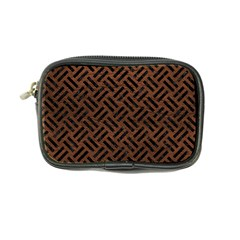 Woven2 Black Marble & Dull Brown Leather Coin Purse