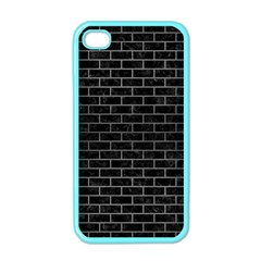 Brick1 Black Marble & Gray Brushed Metal (r) Apple Iphone 4 Case (color)