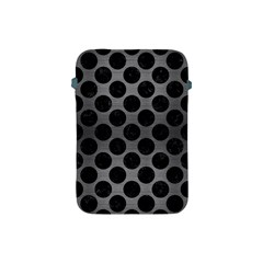 Circles2 Black Marble & Gray Brushed Metal Apple Ipad Mini Protective Soft Cases