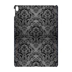 Damask1 Black Marble & Gray Brushed Metal Apple Ipad Pro 10 5   Hardshell Case