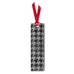 Houndstooth1 Black Marble & Gray Brushed Metal Small Book Marks