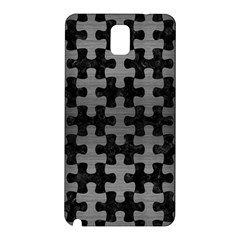 Puzzle1 Black Marble & Gray Brushed Metal Samsung Galaxy Note 3 N9005 Hardshell Back Case