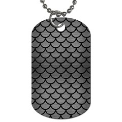 Scales1 Black Marble & Gray Brushed Metal Dog Tag (one Side)