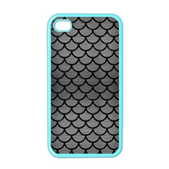 Scales1 Black Marble & Gray Brushed Metal Apple Iphone 4 Case (color)
