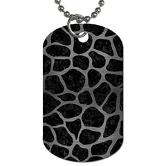 Skin1 Black Marble & Gray Brushed Metal Dog Tag (one Side)