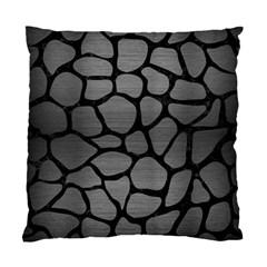 Skin1 Black Marble & Gray Brushed Metal (r) Standard Cushion Case (two Sides)