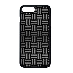 Woven1 Black Marble & Gray Brushed Metal (r) Apple Iphone 8 Plus Seamless Case (black)