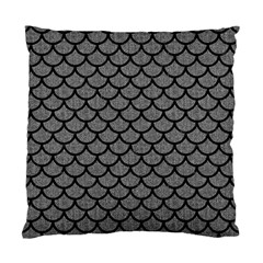 Scales1 Black Marble & Gray Denim Standard Cushion Case (one Side)
