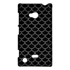 Scales1 Black Marble & Gray Denim (r) Nokia Lumia 720