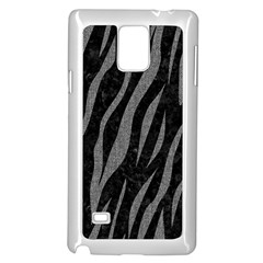 Skin3 Black Marble & Gray Denim (r) Samsung Galaxy Note 4 Case (white)