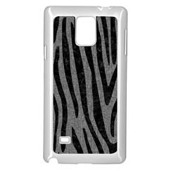 Skin4 Black Marble & Gray Denim (r) Samsung Galaxy Note 4 Case (white)