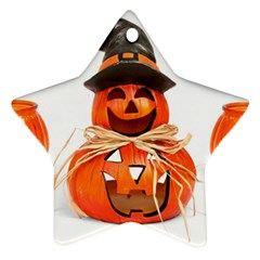 Funny Halloween Pumpkins Star Ornament (two Sides)