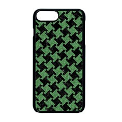 Houndstooth2 Black Marble & Green Denim Apple Iphone 8 Plus Seamless Case (black)