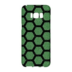 Hexagon2 Black Marble & Green Denim Samsung Galaxy S8 Hardshell Case